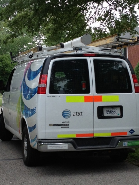 at and t natural gas van