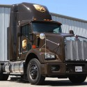 LNG-fueled Kenwoth T800 in UPS brown.
