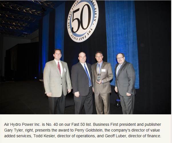 Air Hydro Power - 50 Fastest Award
