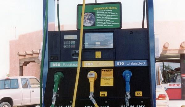 Triple biofuels dispenser